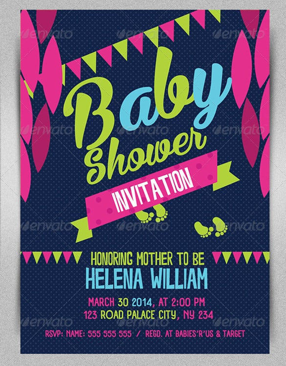 Yellow Baby Shower Invitation Template
