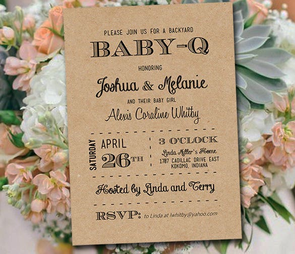 Baby Q Shower Invitation Template