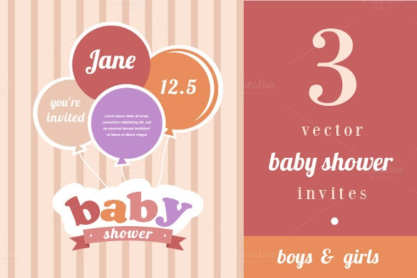 3 baby shower vector invitation for everyone