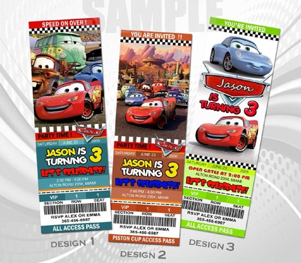 disney cars birthday invitation party1st baby shower template kids lightning mcqueen