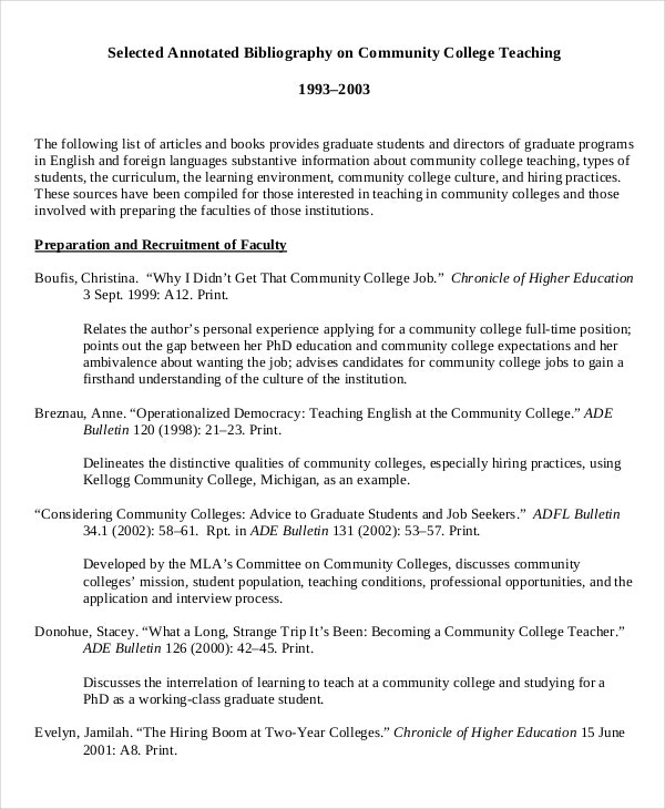 example of teaching multiple intelligences annotated bibliography template1