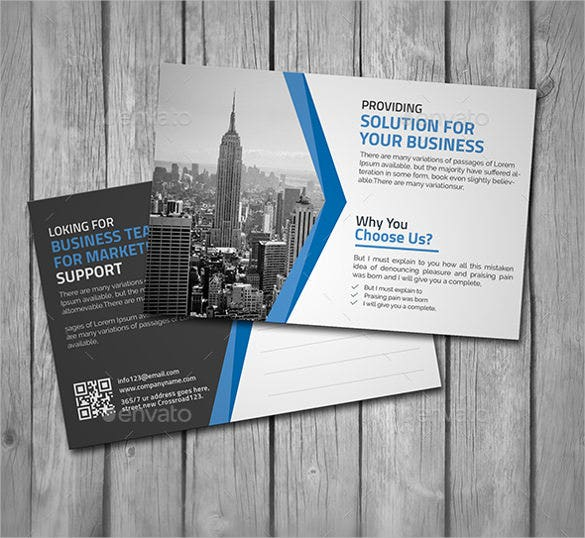 postcard for business solutions