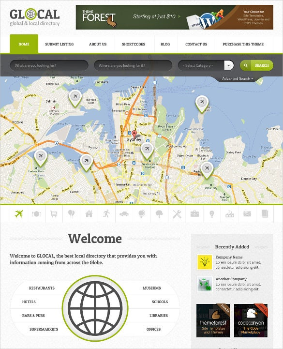 company database directory listings wordpress theme