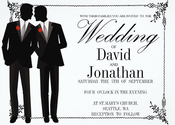 17+ gay wedding invitation templates – free sample, example format, Wedding invitations