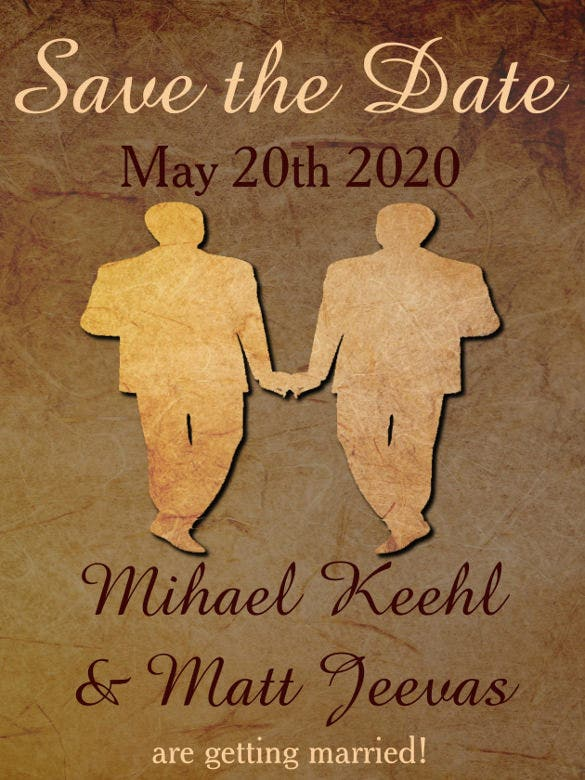 18 Gay Wedding Invitation Templates Free Sample Example Format