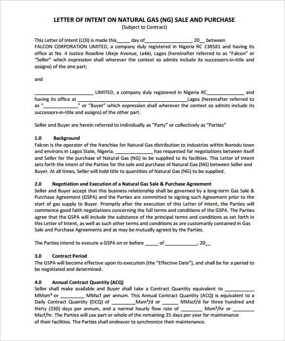 15 Free Letter of Intent Templates Free Sample Example Format – Letter of Intent Contract