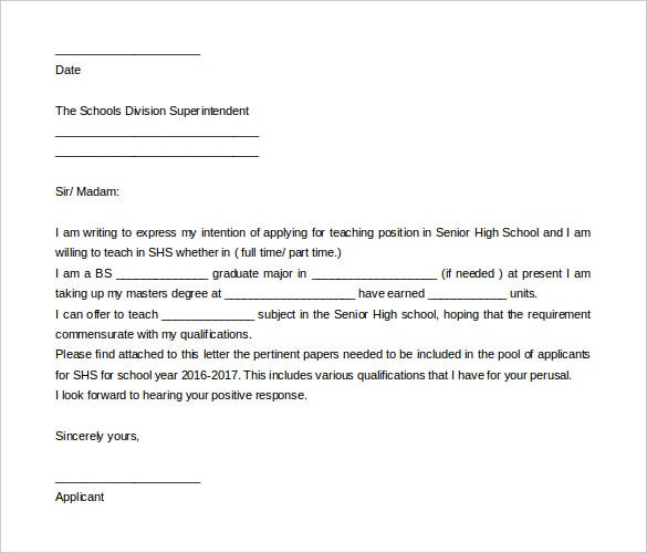 letter of intent teaching - Boat.jeremyeaton.co