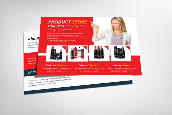 product promotion postcard template