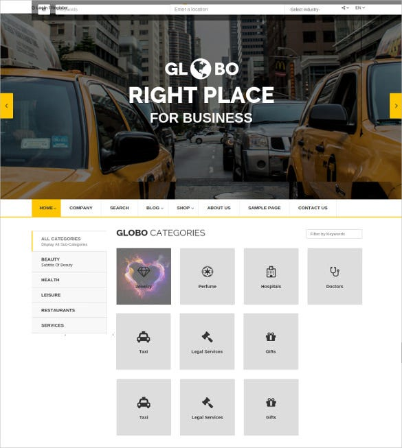 classified directory listings wordpress theme