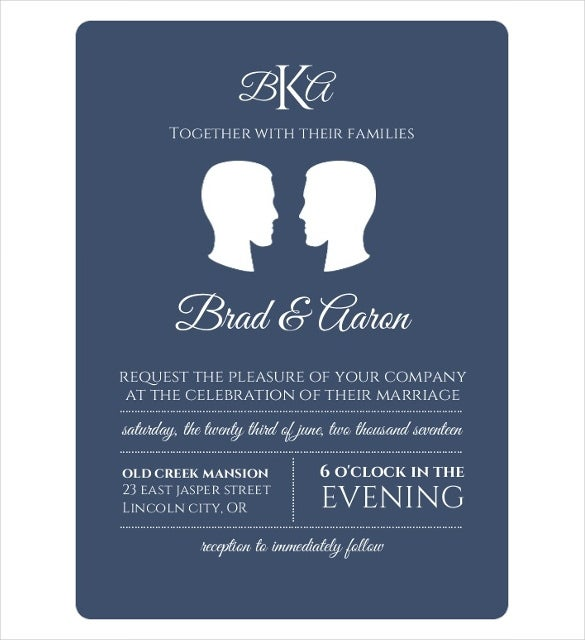18  gay wedding invitation templates  u2013 free sample  example format download