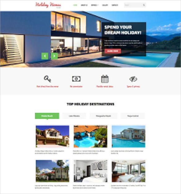 corporate home rent website template