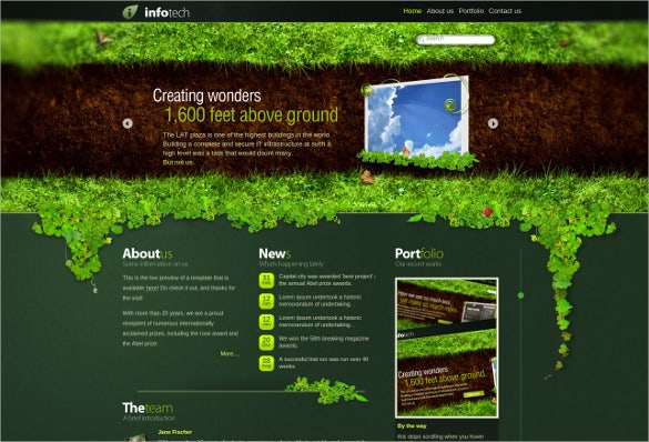 green corporate website