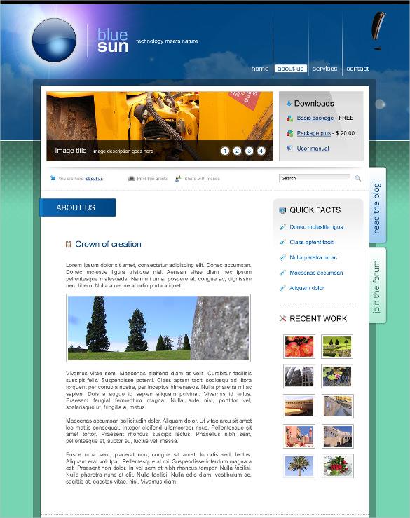 modern corporate website