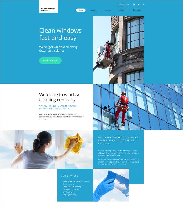 corporate cleaning website template