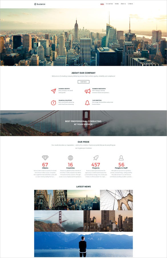 business corporate website template