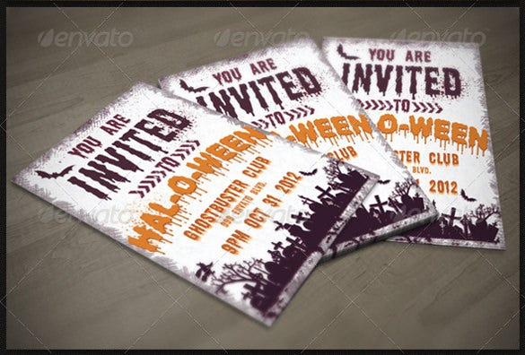 dark halloween party invitation