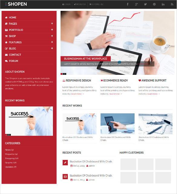 creative corporate website template