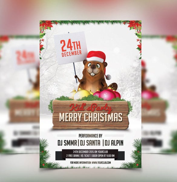 christmas party invitation template christmas kids party