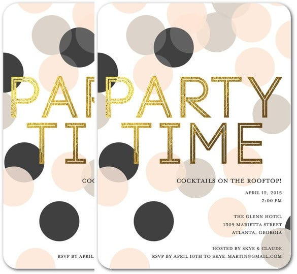 black design party invitation