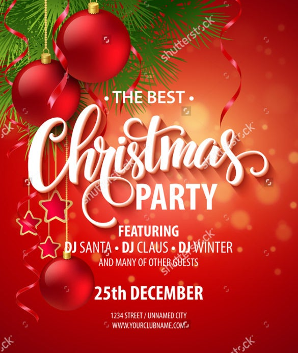 20 party invitation templates free sample example format vector christmas party design template stopboris Image collections