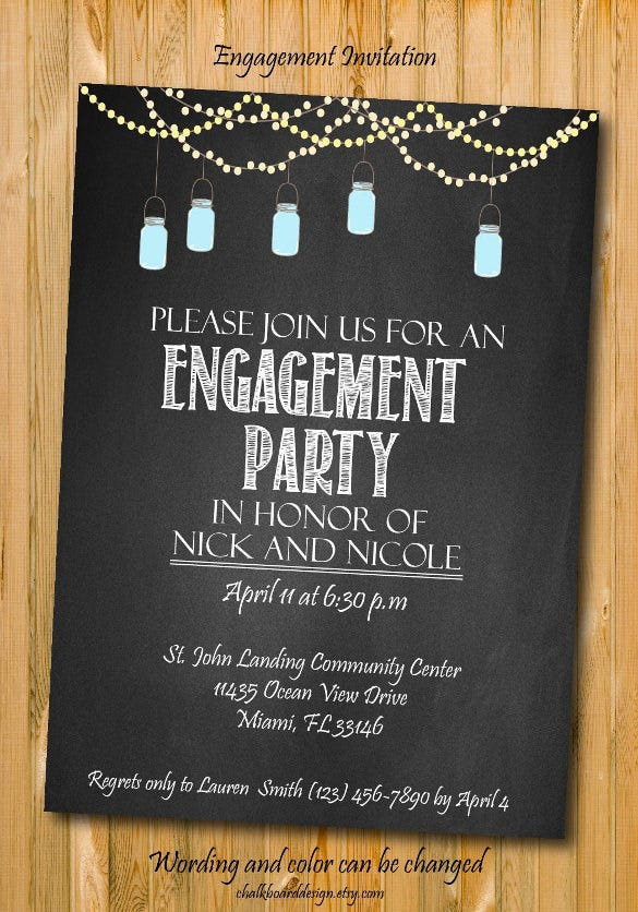 free printable engagement party invitations – gangcraft, Birthday invitations