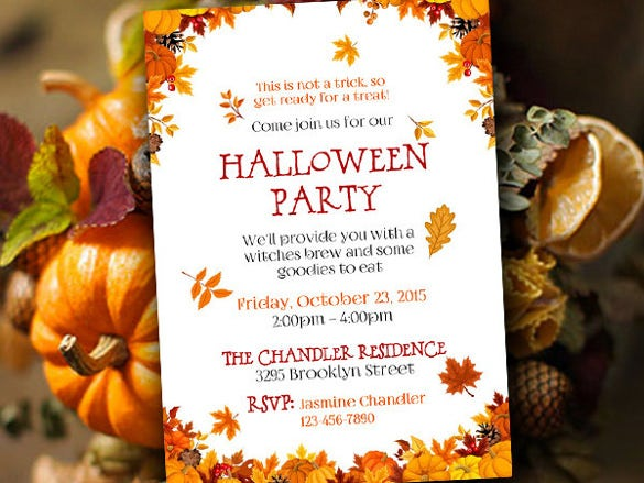 halloween party invitation template fall party invitation