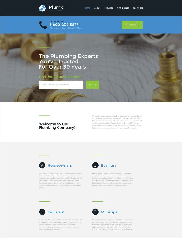 responsive corporate website template