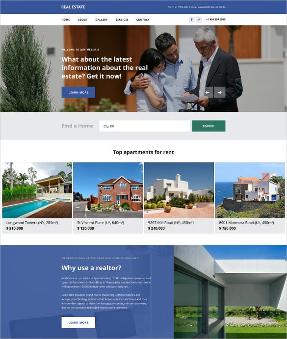 corporate real estate template