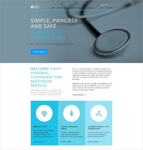 corporate medical website template