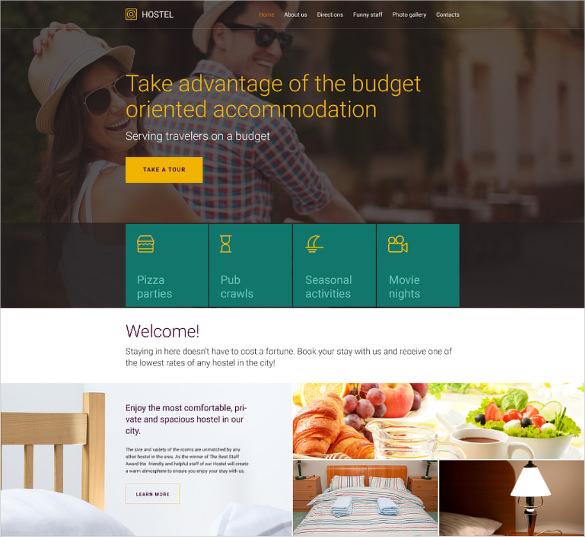 corporate hotel services website template