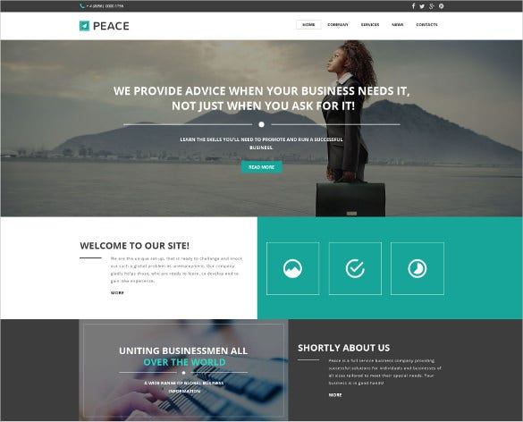 19 corporate website themes amp templates free amp premium
