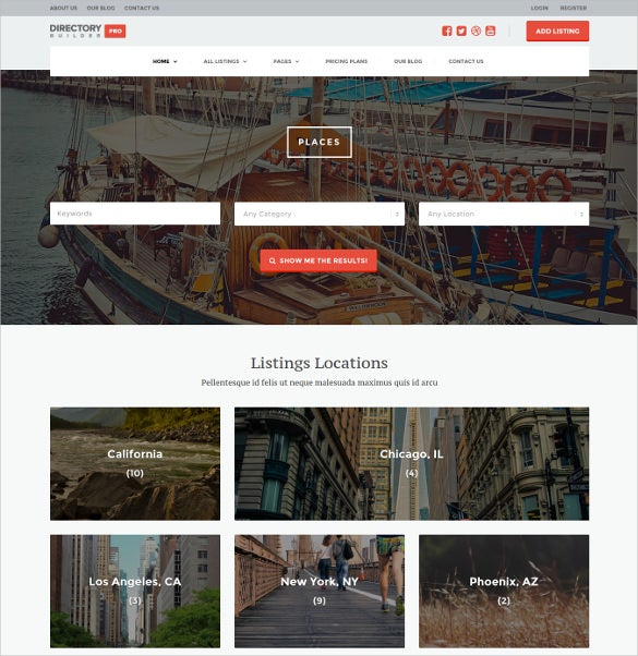directory listing builder pro wp theme