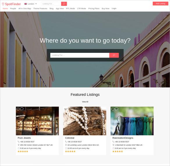 flexible directory listing wordpress theme