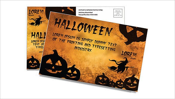 postcard template for halloween