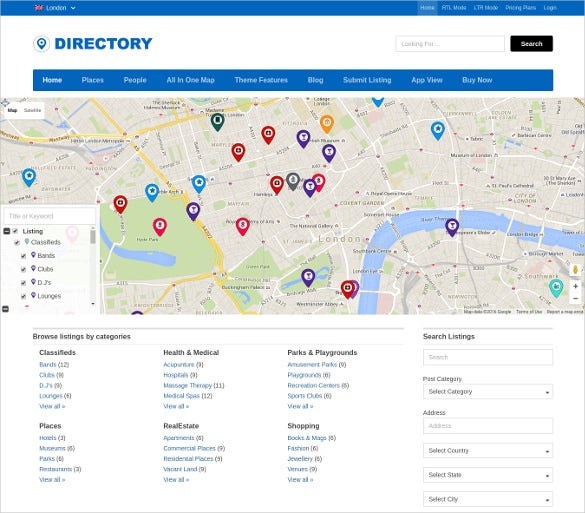 creative directory listing wordpress template