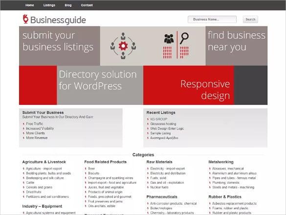 free directory listing wordpress theme