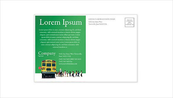 school bus postcard template publisher format download
