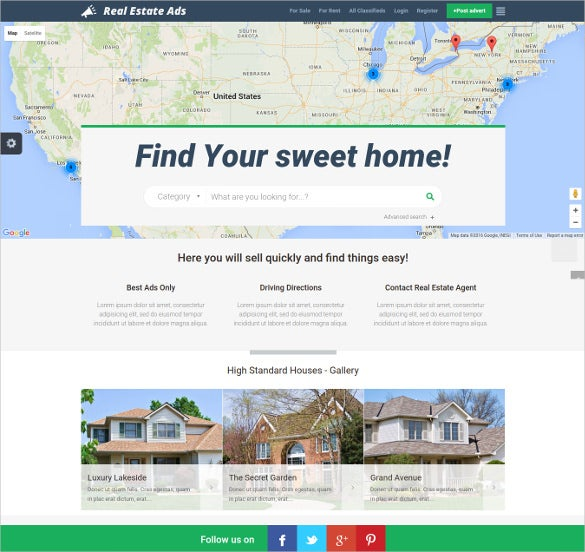 real estate classified directory listing joomla theme