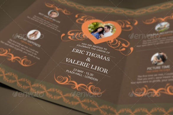 tri fold wedding invitation psd format
