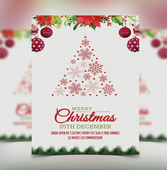 graphic about Free Printable Christmas Party Flyer Templates identify 32+ Xmas Invitation Templates - PSD, AI, Term Absolutely free