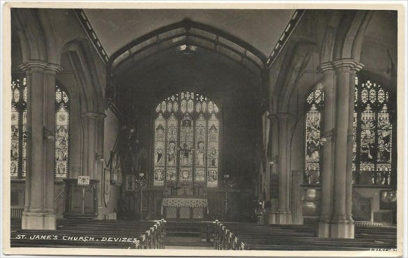 vintage church real photo postcard