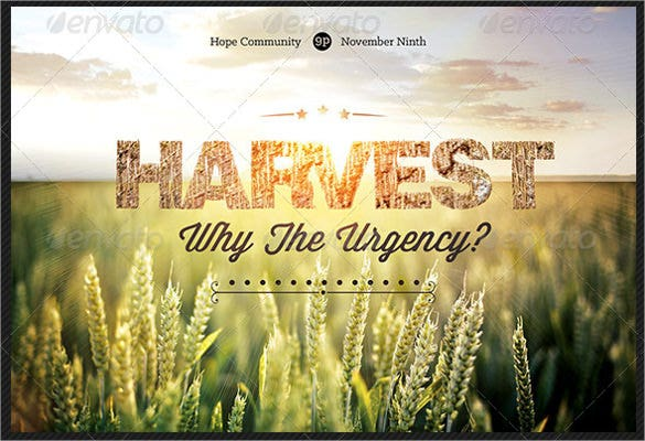harvest urgency church flyer and postcard template