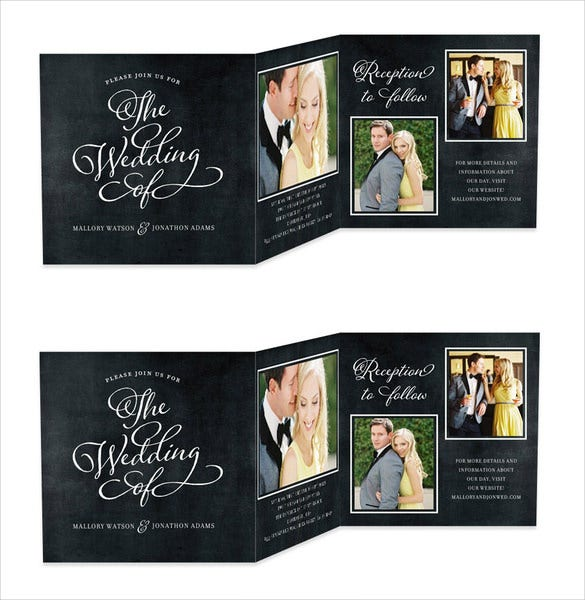 Lovely Tri Fold Wedding Invitation