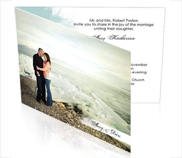 TriFold Wedding Invitation Template – Sample, Example Format Download
