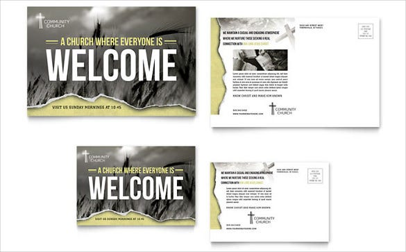 bible church postcard template