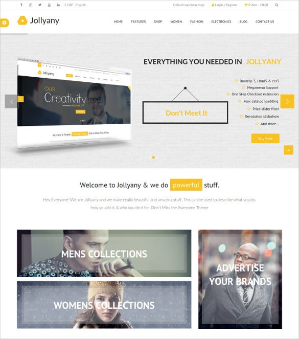 corporate multi purpose magento theme