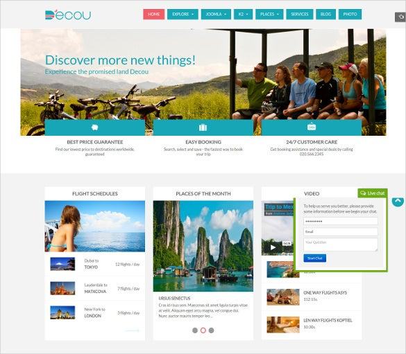 travel directory listing joomla template