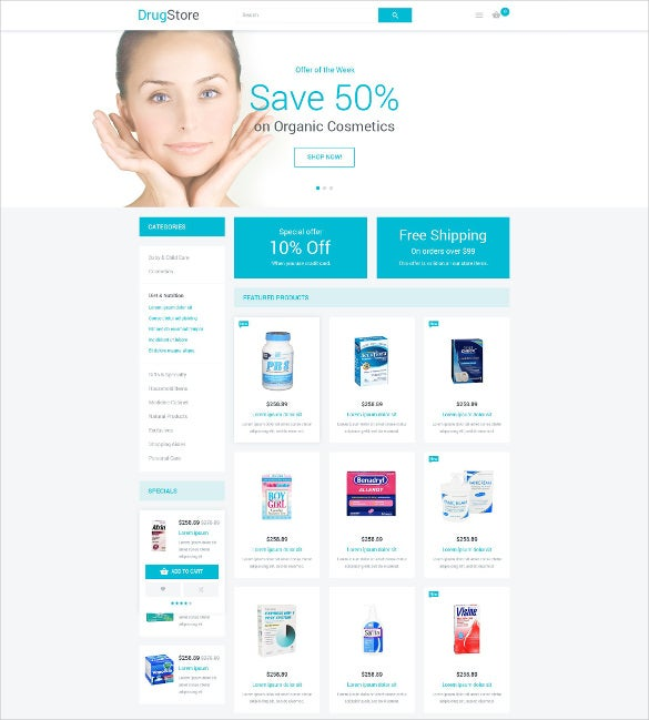 corporate beauty magento template