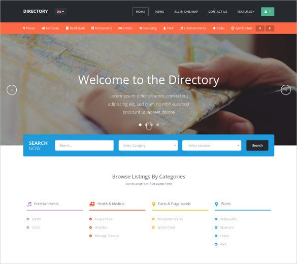 responsive clean directory listing joomla theme