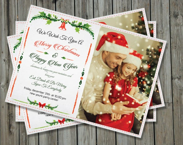 Christmas Eve Get Together Invitation Template